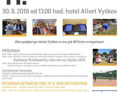 Pozvánka – Podnikatelské setkání a dětský den OHK Vyškov – 30. srpna 2018